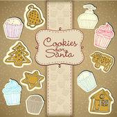 Cupcake ve ballı kek koleksiyonu — Stok Vektör