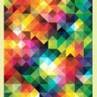 Colorful Triangles Mosaic Pattern — Stock Vector