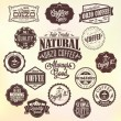 Vintage Retro Coffee Badges And Labels — Stock Vector #42059505