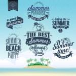 retro elementen voor zomer kalligrafische ontwerpen — Stockvector  #42059543