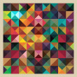 Colorful Triangles Abstract Mosaic Design Pattern — Stockvector #42059547