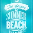 Vector de stock : Seaside Poster With Typography
