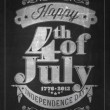 Vector de stock : Vintage Style Independence Day poster