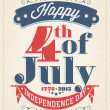 Vintage Style Independence Day poster — Stockvector #42059643