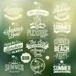Retro Elements For Summer Calligraphic Designs — Stock Vector #42059709