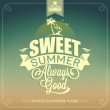 Stock Vector: Sweet Summer Typography Background For Summer