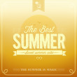 Stockvektor : Best Summer Typography Background