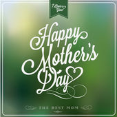 Vintage Happy Mothers's Day Typographical Background — Stock vektor