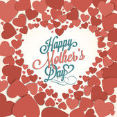 Vintage Happy Mothers's Day Background — Stock Vector