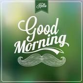 Good Morning Typographical Background — Stock Vector