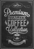 Premium Quality Coffee Collection Typography — Stock Vector