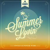 Summer Lovin Typography — Stock Vector