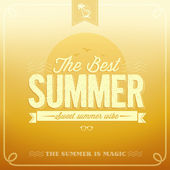 Best Summer Typography Background — Stock Vector