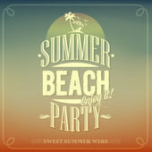Summer Beach Party Background For Summer — Stock Vector