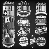 Back to School Calligraphic  Vintage Ornaments — Stock Vector