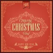 Vector de stock : Vintage Christmas Card Or Invitation