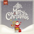 Retro Vintage Merry Christmas Greeting Card — Stock Vector #42061011