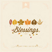 Autumn Blessings Vintage Background — Stock Vector