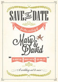 Save The Date, Wedding Invitation Card — Wektor stockowy