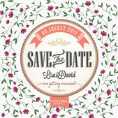 Save The Date, Wedding Invitation Card — Stock vektor