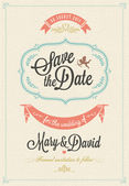 Save The Date, Wedding Invitation Card — Stock Vector