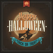 Happy Halloween Trick Or Treat, Vintage Poster. — Stock Vector
