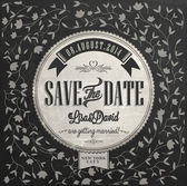 Save The Date Wedding invitation Card — Stock vektor