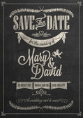 Save The Date Wedding invitation Card — Stock Vector