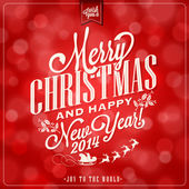 Vintage Christmas Background With Typography — Stock Vector