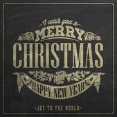 老式圣诞节和新年黑板 — 图库矢量图片
