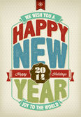 Vintage New Year Background — Stock Vector