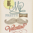 Happy Valentine's Day Hand Lettering — Stock Vector