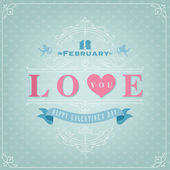 Happy Valentine's Day Hand Lettering — Vetor de Stock