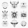 Vintage Hand Drawn Design Elements. Retro, Hipster Style. Arrows, Labels, Ribbons — Stock Photo #45443061