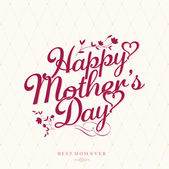 Vintage Happy Mothers's Day Typographical Background — Stock Photo