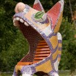 Sculpture of a cat — Stock Photo