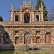 Stock Photo: Fountain at Real Alcazar, Seville, Spain