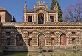 Fountain at the Real Alcazar, Seville, Spain — Stock Photo