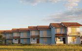 Italian detached houses — Stock Photo