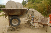 Cement mixer — Stock Photo
