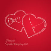 Carte de saint valentin — Vecteur
