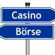 Exchange or casino sign - Stock Photo