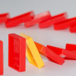 Domino effect — Stock Photo