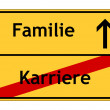 Stok fotoğraf: Career no - family yes sign
