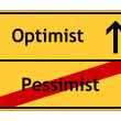 Pessimist no - Optimist yes sign — Stock Photo