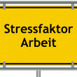 Stock Photo: Stress factor work sign