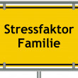 Stock Photo: Stress factor family sign