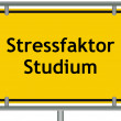 Stock Photo: Stress factor study sign
