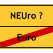 Stock Photo: Euro or new Euro? sign