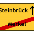 Merkel no - Steinbrück yes sign — Stock Photo